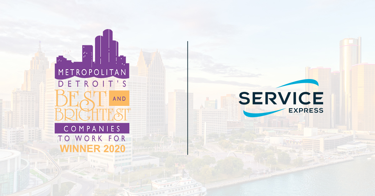 Service Express is Named One of 2020's Best and Brightest Companies to Work For® in Detroit for the 16th Consecutive Year